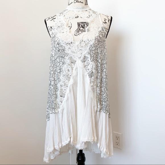 Free People Dresses & Skirts - Free People White Lace Slip Dress
